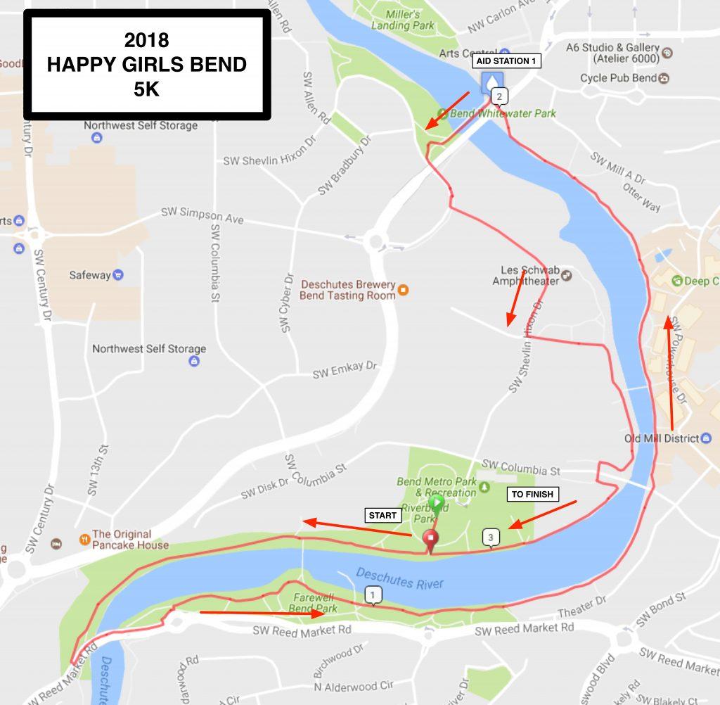 Bend Course Maps Happy Girls Run
